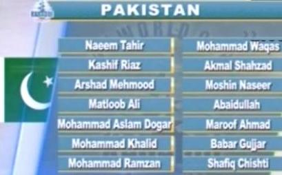 pakistan team kabaddi world cup 2013
