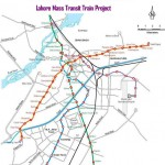 Lahore Metro Train Route Map from Ali Town to Dere Gujjran (Yellow Line)