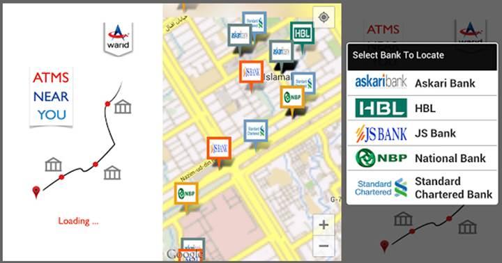 Warid ATM App