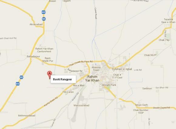 Basti Rangpur Near Rahim Yar Khan Location Map