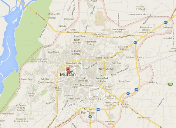 Multan City Street Map