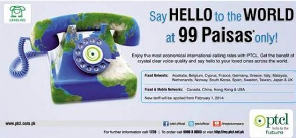 PTCL International Call Rates 2014
