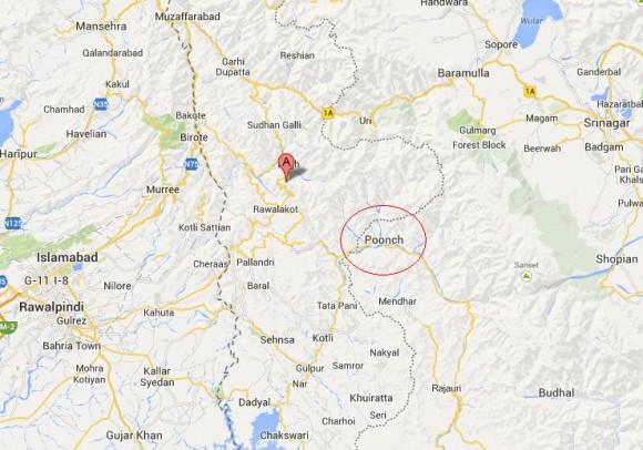 Poonch Azad kashmir Location Map