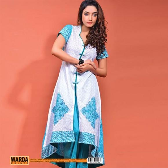 Warda Lawn 2014 Chiffon Dress 1