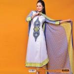 Warda Lawn 2014 Chiffon Dress 5