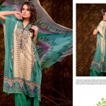 Ajwa Textile Crinkle Chiffon Lawn S/S 2014