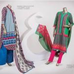 Junaid Jamshed 2014 Lawn Dress 10