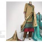 Junaid Jamshed 2014 Lawn Dress 11