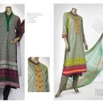 Junaid Jamshed 2014 Lawn Dress 7