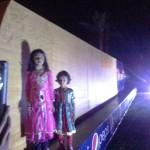 Kahdija and Areeba Tahir with Pepsi 50 Feet Long Bat