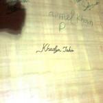 Khadija Tahir Autograph on Bat in Multan