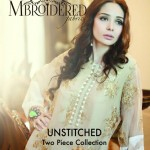 MBROIDERED Chiffon Silk S/S Collection 2014 by Maria B