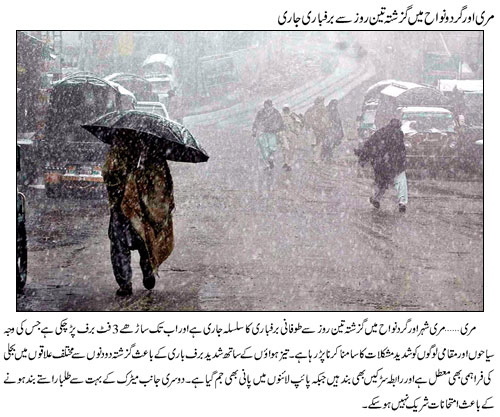 Murree Snow falling Continue in March 2014