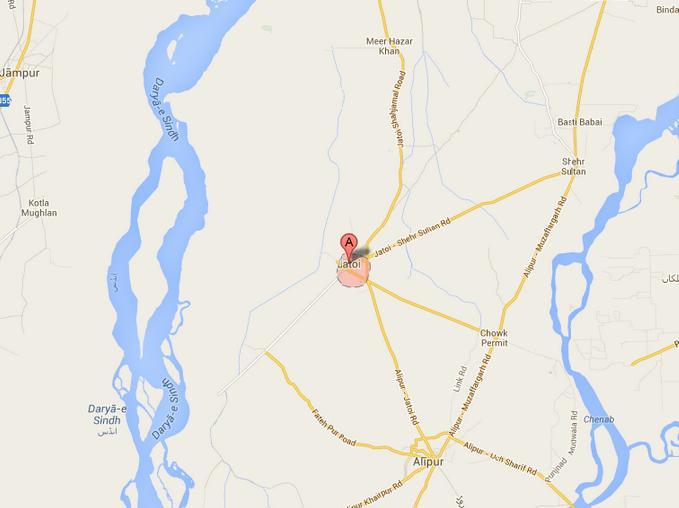 PP 259 Jatoi Muzaffargarh Halqa Map