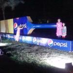Pepsi Long Bat at Night