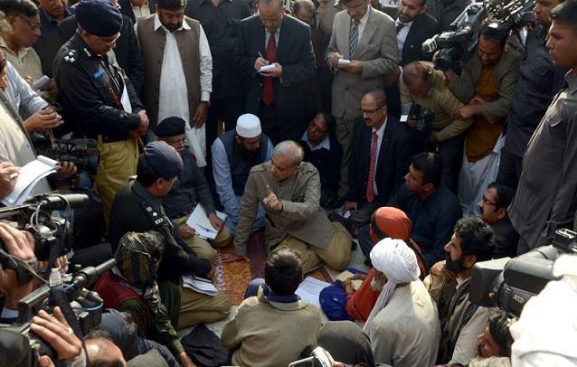 Shahbaz Sharif in Jatoi Muzaffargarh for victim student Amna Bibi (late) House