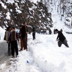 Snowfall in Galyat March 2014