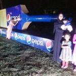 Uzair with Mom, Khadija, Ariba with Pespi bat in Multan