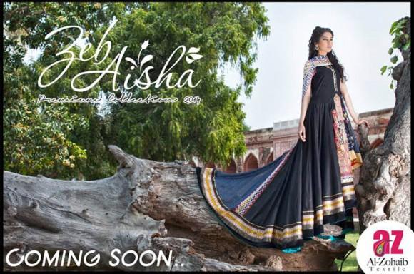 Zeb Aisha 2014 Premium Lawn 2