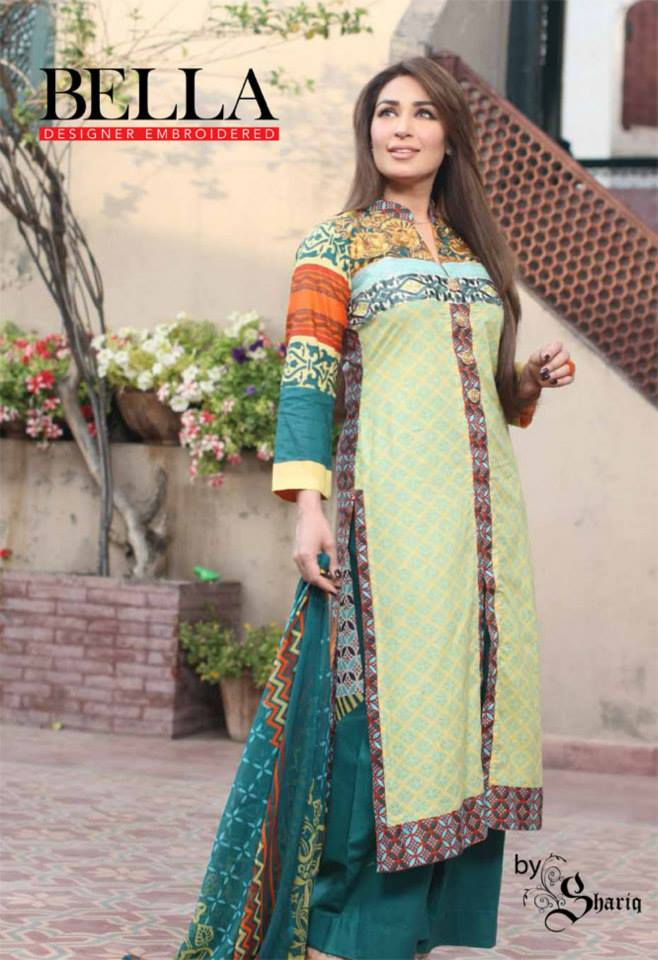 Bella Designer Lawn Collection S S 2014 By Shariq Textiles