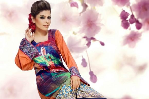 Hadiqa Kiani Designer Summer Dress 2014