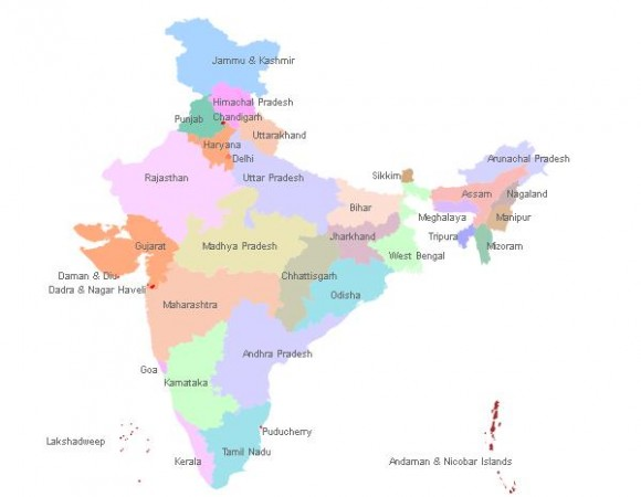 India Map - Province wise