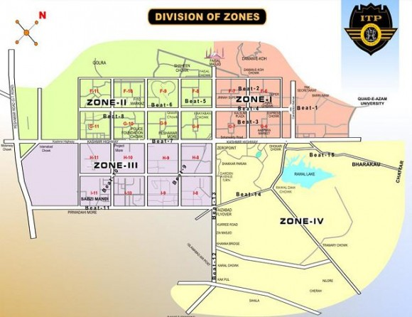 Islamabad Map Zone Wise