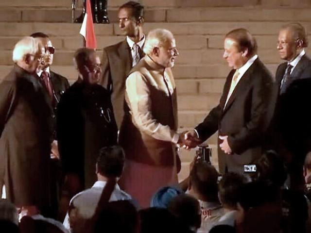 Nawaz Sharif and Narendra Modi Shake Hands