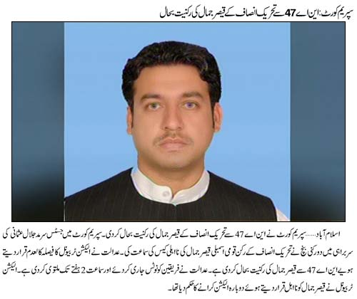 PTI MNA Reinstated by Supreme Court
