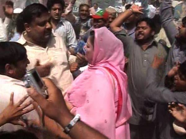 PTI Workers Misbehave with PMLN Female MPA in Hafizabad