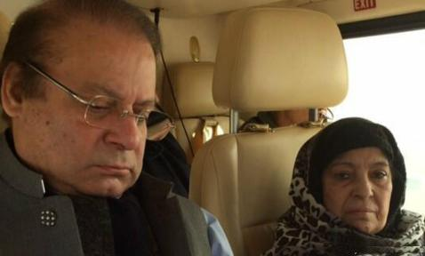 Pakistani PM Nawaz Sharif's Mother with her son