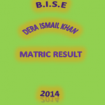BISE D I Khan Matric Result 2014