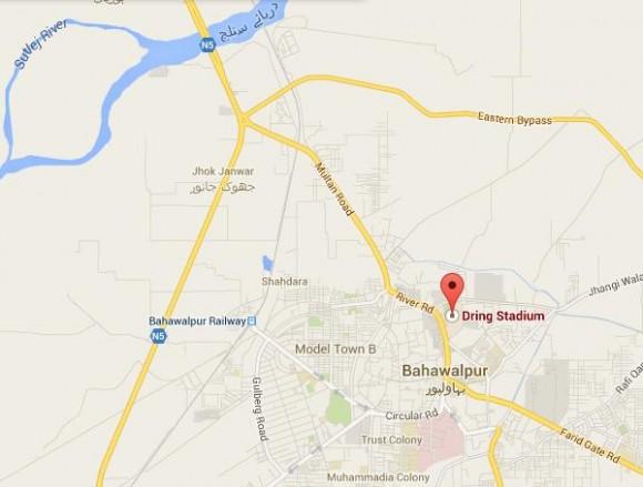 Bahawalpur Stadium Locatiom Map - Zoo, Radio Station, Farid Gate, Bus Stand, Police Line