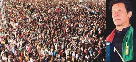 Imran Khan Addressing Jalsa in Sialkot