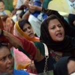 MQM Female Workers Protest in Karachi