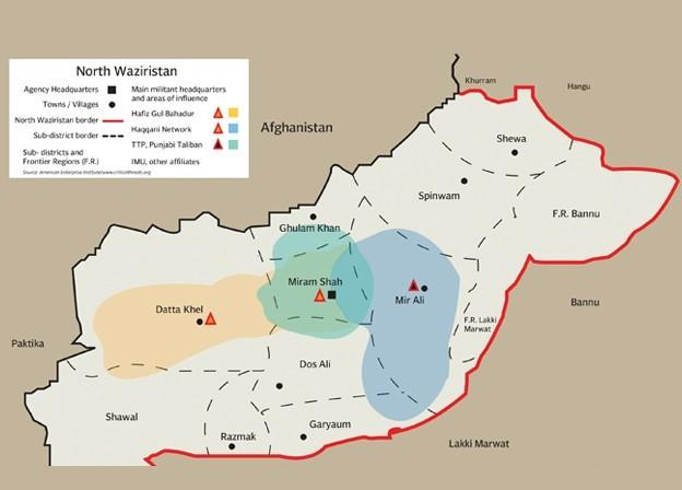 North Waziristan Military Operation Map
