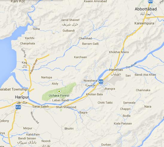 PK-45 Abbottabad Area Map