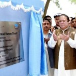 Prime Minister Nawaz Sharif along with Water and Power Minister Khawaja Asif inaugurating the Dasu hydro power project on June 25, 2014