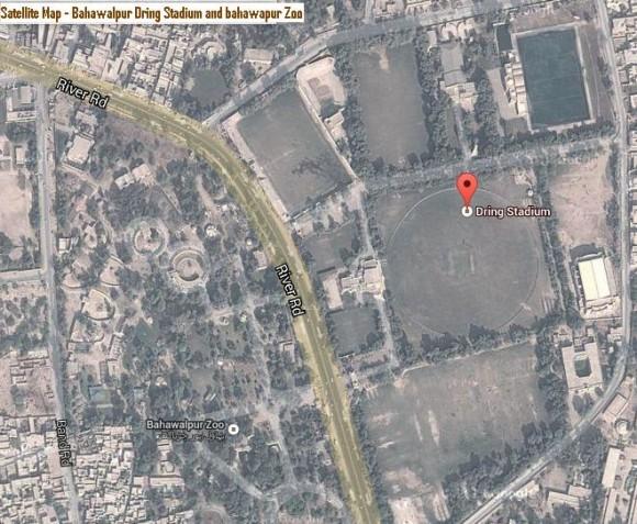 Satellite Map Bahawalpur Zoo and Dring Stadium