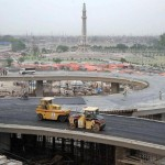 Azadi Chowk Flyover Lahore on completion