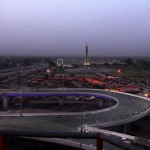 Azadi Chowk Lahore Flyover View with Minar-e-Pakistan