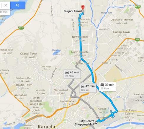 Metro Bus Karachi Route Map