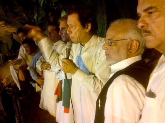 Imran Khan addressing PTI Supporters in Lahore at Wednesday Night