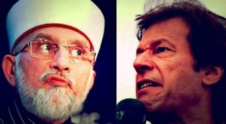Imran Khan and Tahir ul Qadri in Islamabad