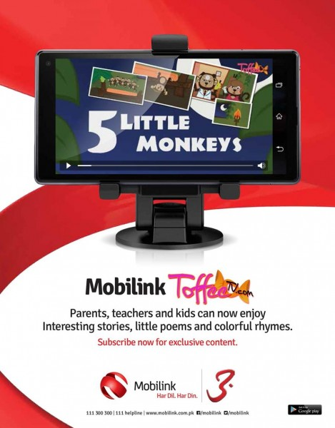 Mobilink Toffee TV Pakistan