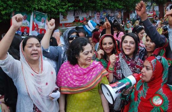 PTI Women at Zaman Park Lahore