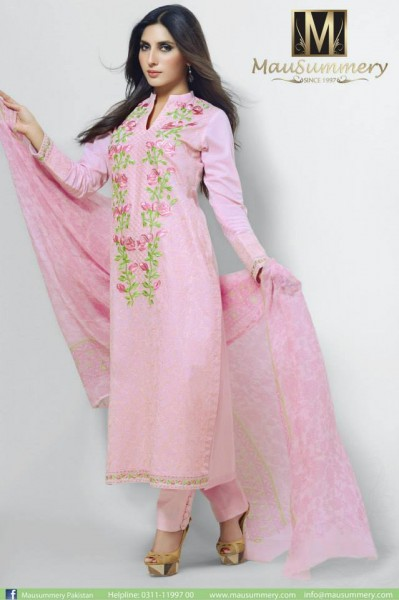 3 piece stitched suits for EID parties by Mausummery
