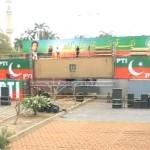 PTI Jalsa Stage Near Quaid Azam Tomb Karachi