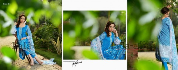 mid summer ready to wear embroidery dresses designed by Sana Samia