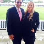 Wasim Akram with his new wife Shaniera in London.